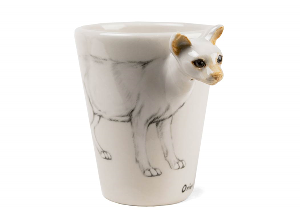 Picture of Oriental Cat Handmade 8oz Coffee Mug White
