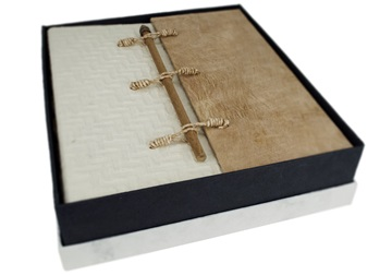 Picture of Oriental Handmade Large Photo Album Textured