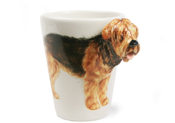 Picture of Otterhound Handmade 8oz Coffee Mug Black And Tan