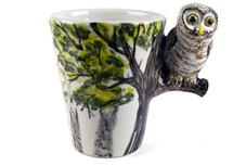 Picture of Owl Handmade 8oz Coffee Mug Forrest Green