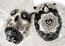 Picture of Owl Handmade Mini Cake Topper Harlequin Diamanté