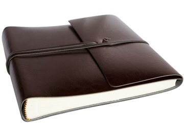 Picture of Pachino Handmade Recycled Leather Wrap Medium Photo Album Chocolate