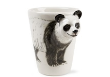 Picture of Panda Handmade 8oz Coffee Mug Black And White