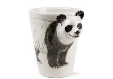 Picture of Panda Handmade 8oz Coffee Mug Black and White