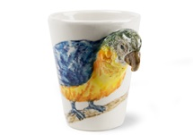Picture of Parrot Handmade 8oz Coffee Mug Blue