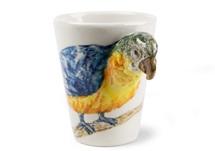 Picture of Parrot Handmade 8oz Coffee Mug Blue