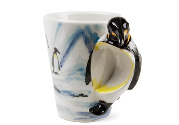 Picture of Penguin Handmade 8oz Coffee Mug Black
