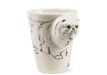 Picture of Persian Longhair Handmade 8oz Coffee Mug White