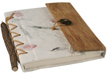 Picture of Petal Handmade Bark Wrap A5 Journal Bougainvillea Plain