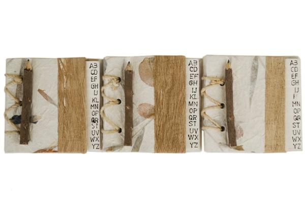 Picture of Petal Handmade Hand Bound Mini Stocking filler Bougainvillea