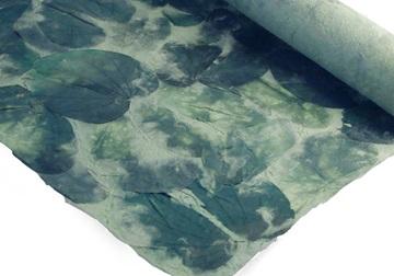 Picture of Petal Teak Leaf Poster Handmade Paper Green