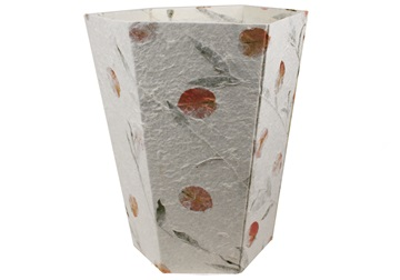 Picture of Petal Handmade Regular Waste Paper Basket White