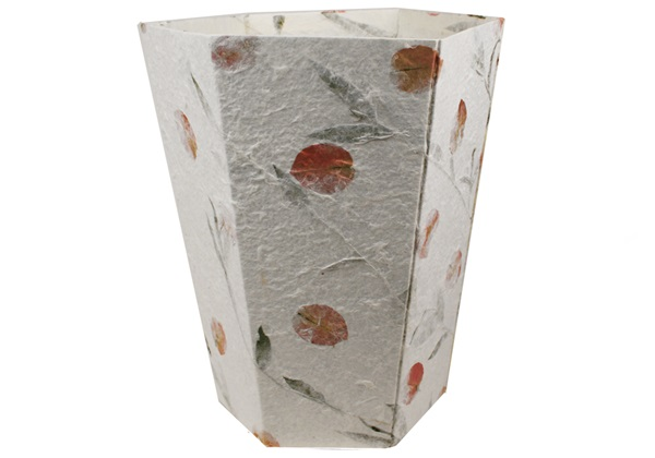 Picture of Petal Handmade Regular Waste Paper Basket White