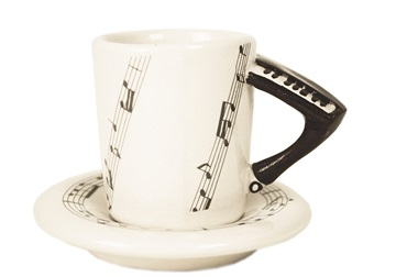 Picture of Piano Handmade Ceramic 2oz Espresso Cup Black
