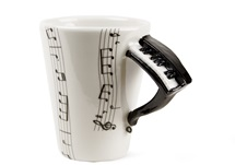 Picture of Piano 8oz Black Handmade Coffee Mug