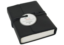 Picture of Picolino Handmade Leather Wrap Mini Journal Black Plain