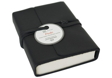 Picture of Picolino Handmade Leather Wrap Mini Journal Black Plain