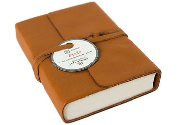 Picture of Picolino Tiny Caramel Handmade Leather Wrap Journal