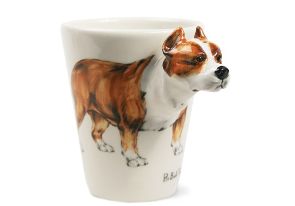 Picture of Pit Bull Terrier Handmade 8oz Coffee Mug Fawn