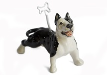 Picture of Pit Bull Terrier Handmade Mini Picture Holder Black And White