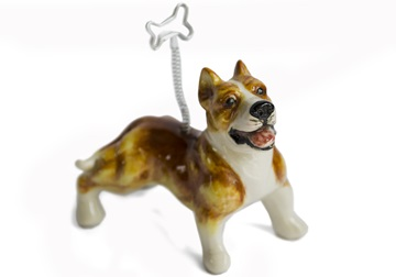 Picture of Pit Bull Terrier Handmade Mini Picture Holder Fawn