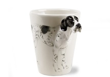 Picture of Pointer Handmade 8oz Coffee Mug White and Black