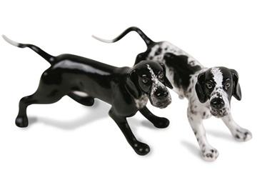 Picture of Pointer Handmade Mini Cruet Set White and Black