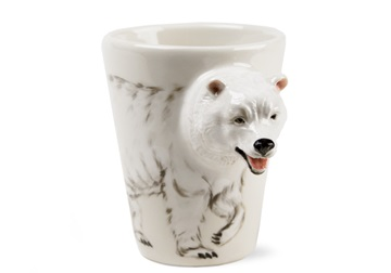Picture of Polar Bear Handmade 8oz Coffee Mug White