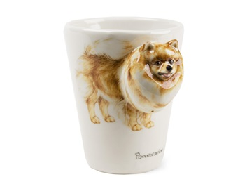 Picture of Pomeranian Handmade 8oz Coffee Mug Brown