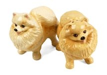 Picture of Pomeranian Handmade Mini Cruet Set Brown
