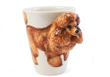 Picture of Poodle Handmade 8oz Coffee Mug Apricot