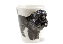 Picture of Poodle Handmade 8oz Coffee Mug Black