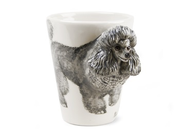 Picture of Poodle Handmade 8oz Coffee Mug Grey