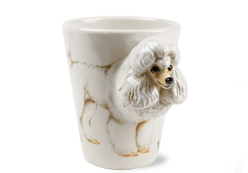 Picture of Poodle Handmade 8oz Coffee Mug White