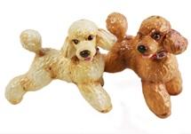 Picture of Poodle Handmade Mini Cruet Set Apricot