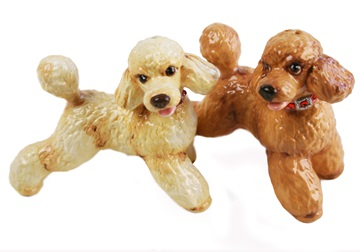 Picture of Poodle Handmade Mini Cruet Set Apricot