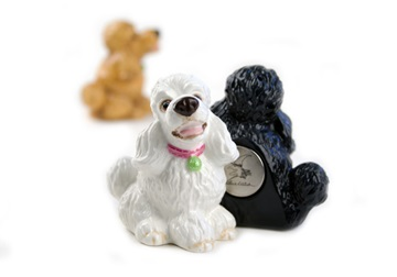 Picture of Poodle Handmade Mini Fridge Magnet White