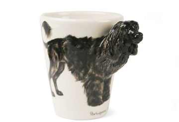 Picture of Portuguese Water Dog Handmade 8oz Coffee Mug Black