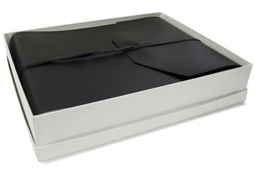 Picture of Positano Handmade Leather Wrap Large Photo Album Black