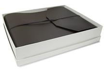 Picture of Positano Handmade Leather Wrap Large Photo Album Chocolate