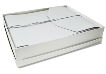 Picture of Positano Handmade Leather Wrap Large Photo Album White