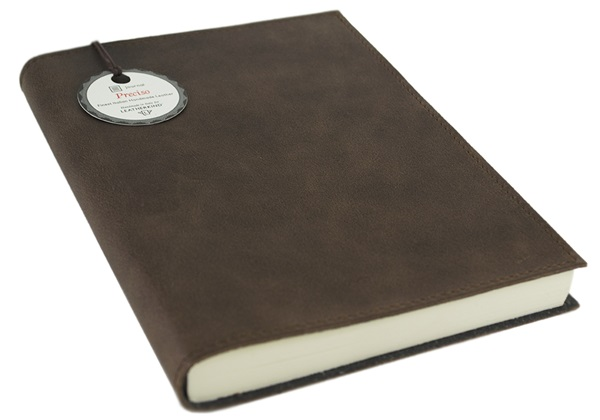 Picture of Preciso Handmade Leather Stitched A5 Journal Chocolate Plain