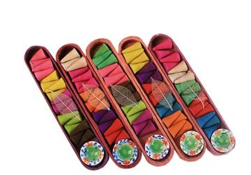 Picture of Profumo Wooden Gift Set 18 Regular, Five Pack, 90 cones Incense Cones Scented