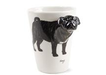 Picture of Pug Handmade 8oz Coffee Mug Black