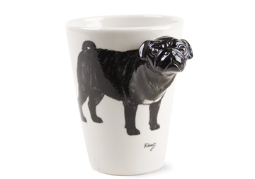 Picture of Pug Handmade 8oz Coffee Mug Black