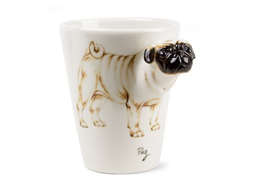 Picture of Pug Handmade 8oz Coffee Mug Fawn
