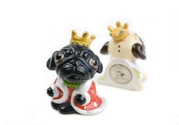 Picture of Pug Handmade Mini Fridge Magnet Black