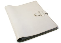 Picture of Pure Handmade Leather Bound Large Post Bound Photo Album Ivory