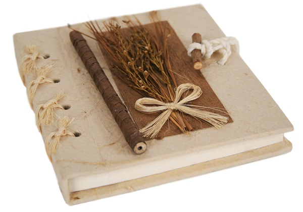 Picture of Quill Handmade A6 Journal Natural Plain