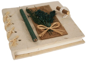 Picture of Quill Handmade A6 Journal Green Plain